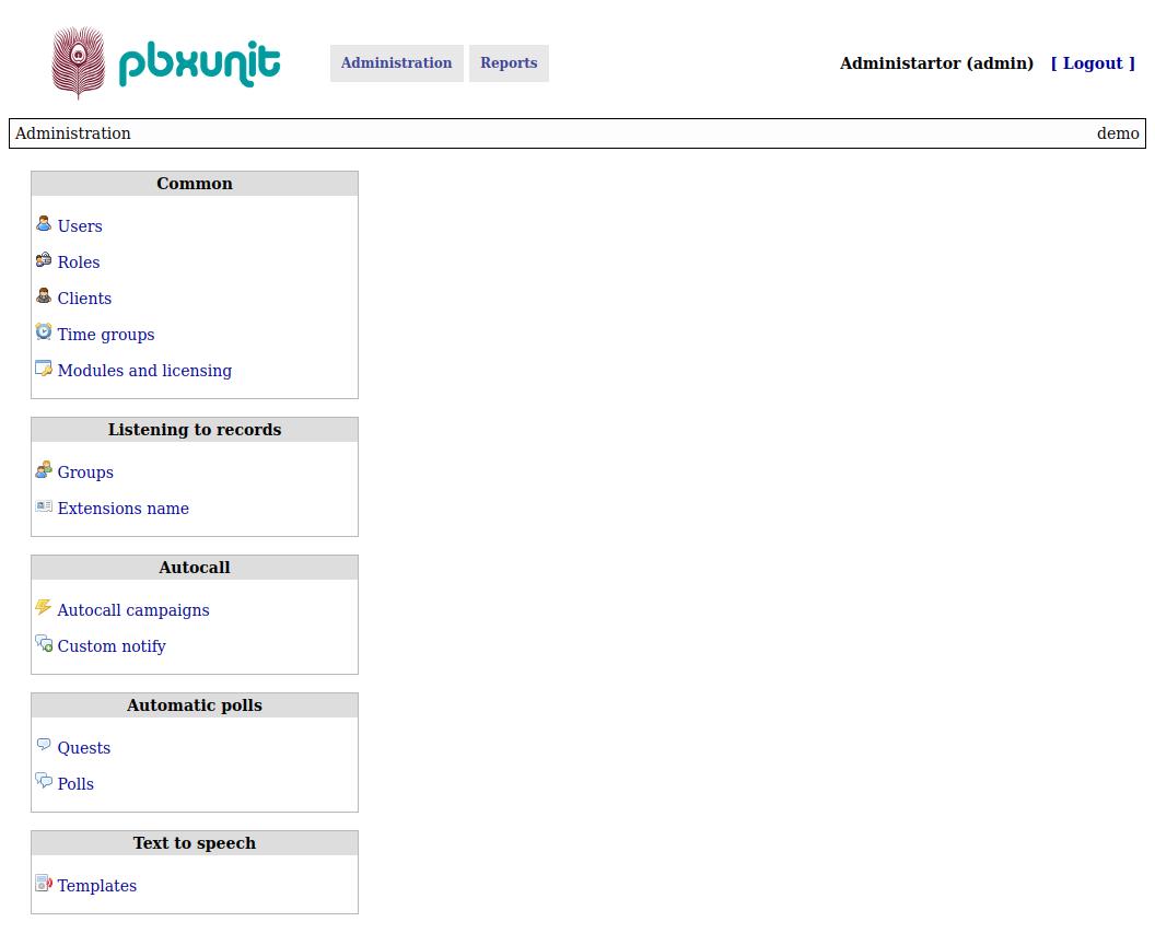 Pbxunit - reports and addons for FreePBX
